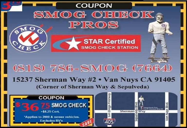Smog Check Reseda >> Smog Check Coupon | Van Nuys, CA - Smog Check Pros